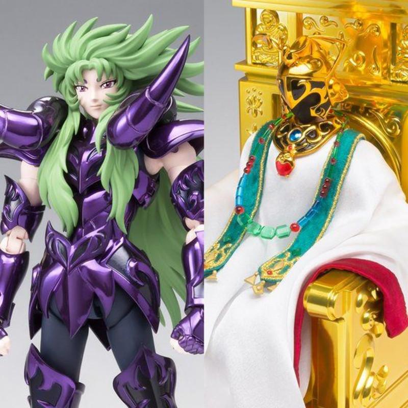 Saint Seiya Myth Cloth EX - Set Shion armadura Surplice de Aries + Pontifice